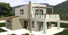 Διώροφο Προκατασκευασμένο Σπίτι 149τ.μ.