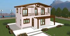 Διώροφο Προκατασκευασμένο Σπίτι 85 τ.μ.