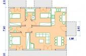 Ισόγειο Προκατασκευασμένο Σπίτι 85τ.μ. Κάτοψη