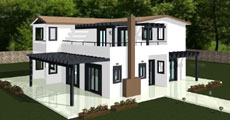Two Floor Prefabricated House 185τ.μ.